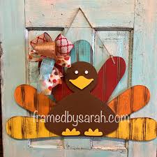 turkey door hanger beadboard turkey door hanger framed