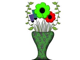 drawn vase flower vase pencil and in color drawn vase flower vase