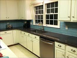 kitchen glass subway tile backsplash navy blue subway tile gray