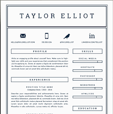 Resume Template Html 41 One Page Resume Templates Free Samples Examples U0026 Formats