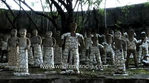 statues made from recycled ceramic rock garden chandigarh youtube