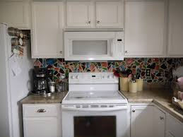 best white paint for cabinets charming colorful recycled mosaic ceramic backsplash also cool paint
