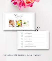 photography business cards photoshop template for senior