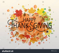 thanksgiving vector art watercolor design style happy thanksgiving day stock vector