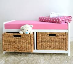 Storage Bench With Cushion Build White Storage Bench With Cushion Multifunctional Home