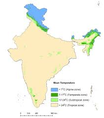 Map Of India by Annual Mean Temperature Map Of India Figure 1 Of 10
