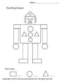 super simple shapes mini task worksheets 2d shapes prek k