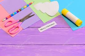 how to make paper greeting card merry christmas step colored