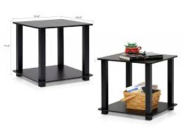 black side table with shelf scenic end tables designs rectangular basket table storage small