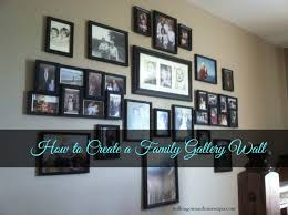 How To Design A Gallery Wall How To Create A Family Wall Of Photos Walking On Sunshine