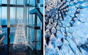 there s an tree made entirely of glass at the