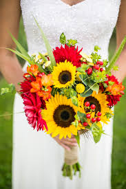 gerbera bouquet warmth and happiness 20 sunflower wedding bouquet ideas