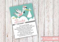 Books Instead Of Cards For Baby Shower Poem Books For Baby Insert Card Baby Shower Ideas Bring A Book