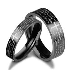 couples rings images Black couples promise rings titanium matching wedding bands jpg