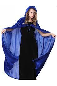 blue halloween vampire cloak cosplay womens witch costume