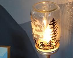 mermaid lamp mason jar lamp lantern mermaid in a jar