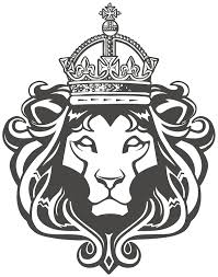 amazon royal lion crown mane black white vinyl decal