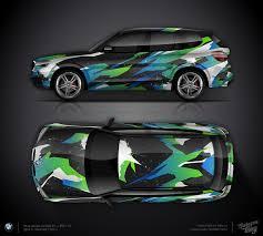 design folien design consept 2 for bmw x3 car wrap design