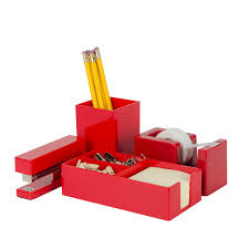Office Desk Accessories Set Red Office Desk Otbsiu Com