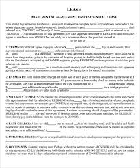 sample property lease agreement template 8 documents in pdf