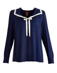 sailor blouse navy sailor blouse sleeved blouse