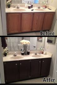 Painting A Bathroom Vanity Before And After by Bathroom Cabinets Refinishing Bathroom Cabinets Small Space