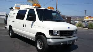 truck van 1993 ford e 350 econoline bucket truck van for sale youtube