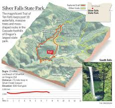 Map Of Oregon Trail by Trail Of Ten Falls At Silver Falls State Park Photos Of All 10