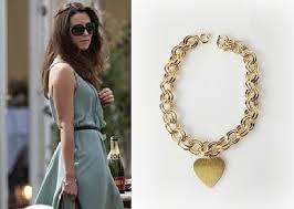 gold charm link bracelet images Kate middleton gold heart charm link bracelet by tudorshoppe jpg