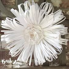 paper flowers white and large paper flower backdrop barb designs