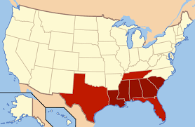 Map Of The Southeastern United States by Deep South Wikipedia