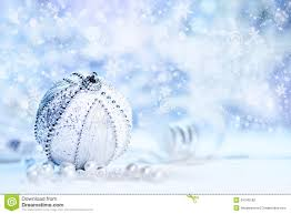 christmas decorations silver and white on blue stock photography