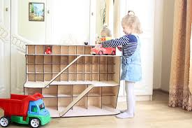 toy car storage monster jam truck car garage gift for boy