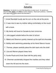ideas collection adverb worksheets for 5th grade with additional