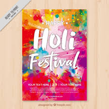 free flyer designs colorful holi flyer template vector free download