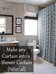 Bathroom Valances Ideas by Turn Any Curtain Or Window Drapery Panel Into A Shower Curtain