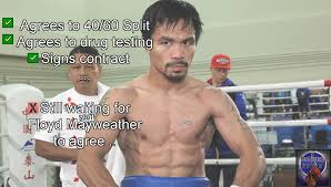 Pacquiao Mayweather Memes - boxing meme manny pacquiao playing the waiting game for floyd