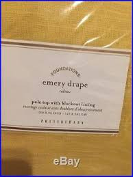 Emery Drapes 2 Pottery Barn Emery Pole Top Blackout Drapes Curtains Panels 96