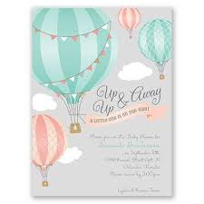 air balloon baby shower invitations marialonghi