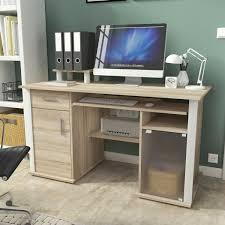 Schreibtisch Online Shop Schreibtisch Computertisch Bürotisch Pc Tisch 135cm Eiche Sonoma