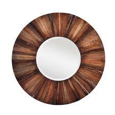 wood slat aged wood slat mirror shades of light