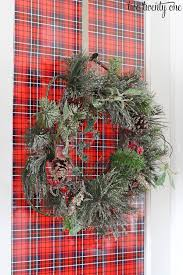 christmas plaid wrapping paper decorating doors for christmas