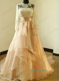 purple and orange wedding dress h1173 beautiful illusion lace top sleeved gown wedding