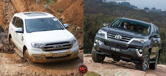 fortuner new toyota fortuner vs new ford endeavour carblogindia