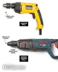drilling into concrete tools rotary hammers and hammer drills
