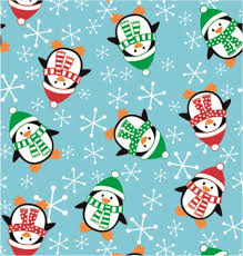 gift wrap christmas poly penguins gift wrap