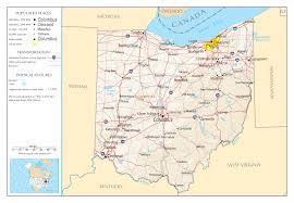 County Maps Of Ohio by Large Detailed Map Of Ohio State State Large With State Map