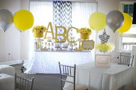 yellow and gray baby shower kara s party ideas yellow gray alphabet baby shower gender