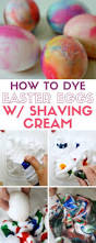 how to dye easter eggs with shaving cream and food coloring