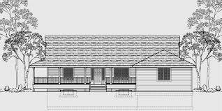 Cottage House Plans With Wrap Around Porch One Level House Plans House Plans With Basements